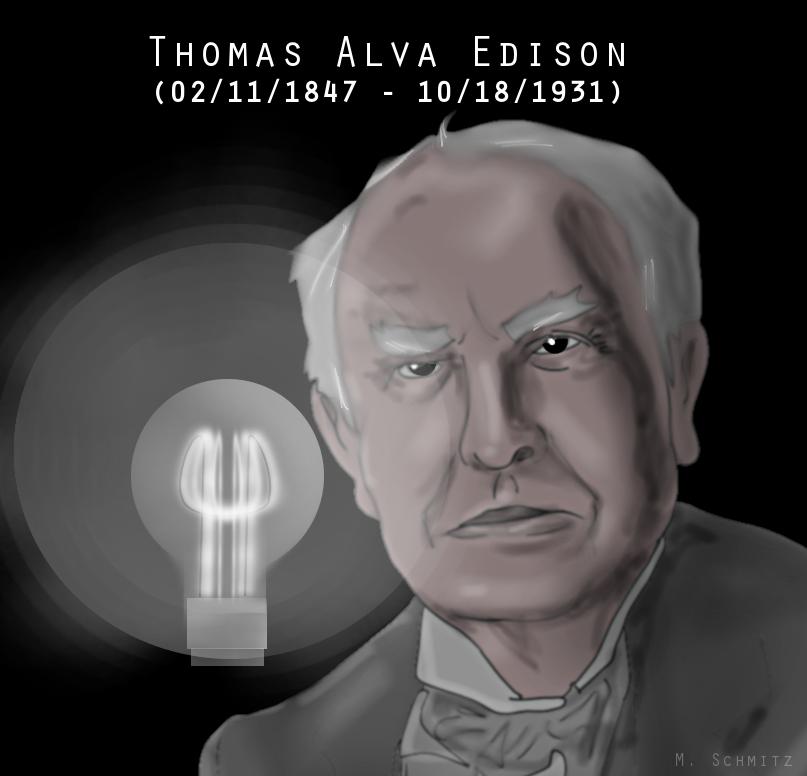 Thomas A. Edison by M. Schmitz